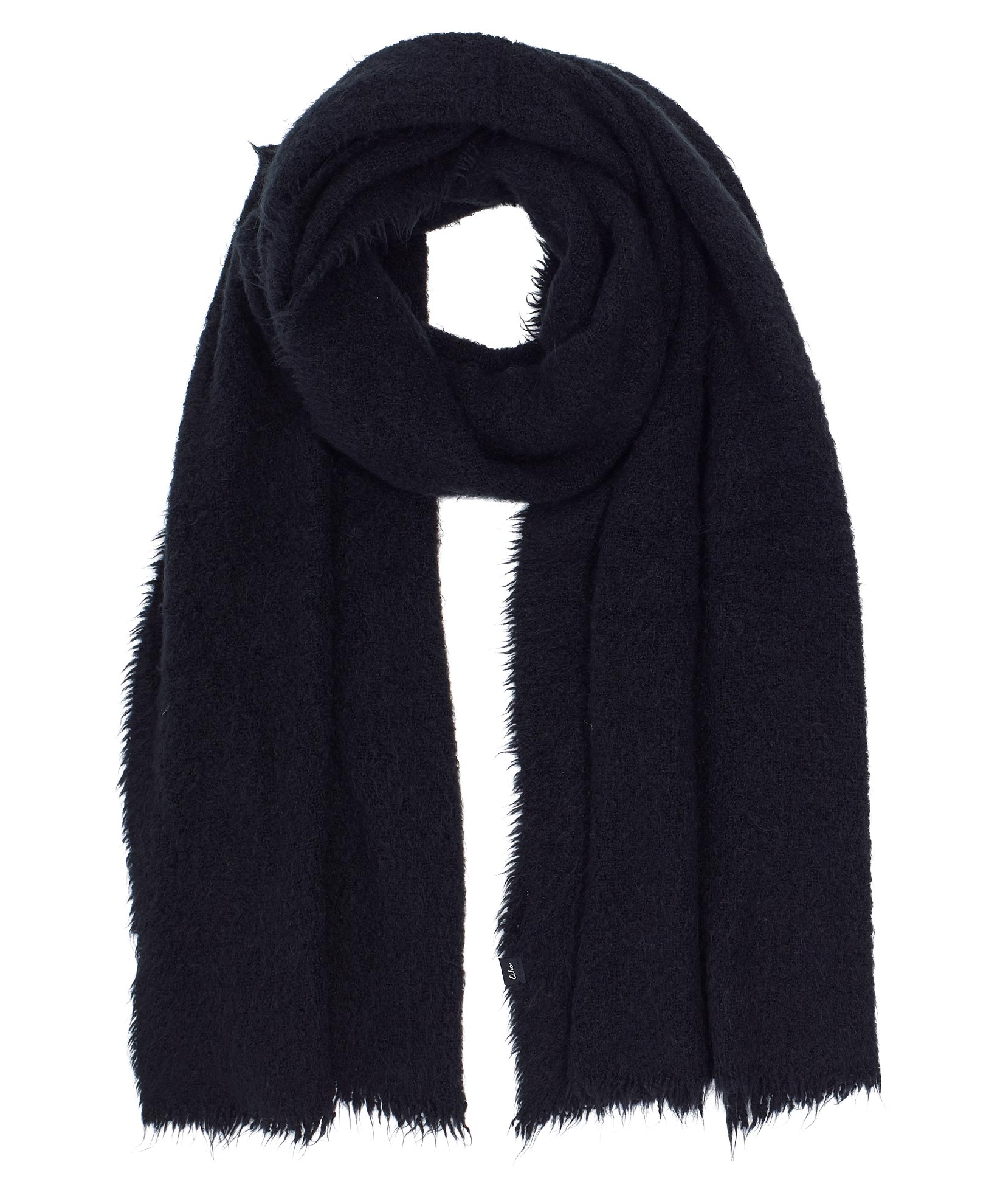 Echo Black - Plush Boucle Scarf