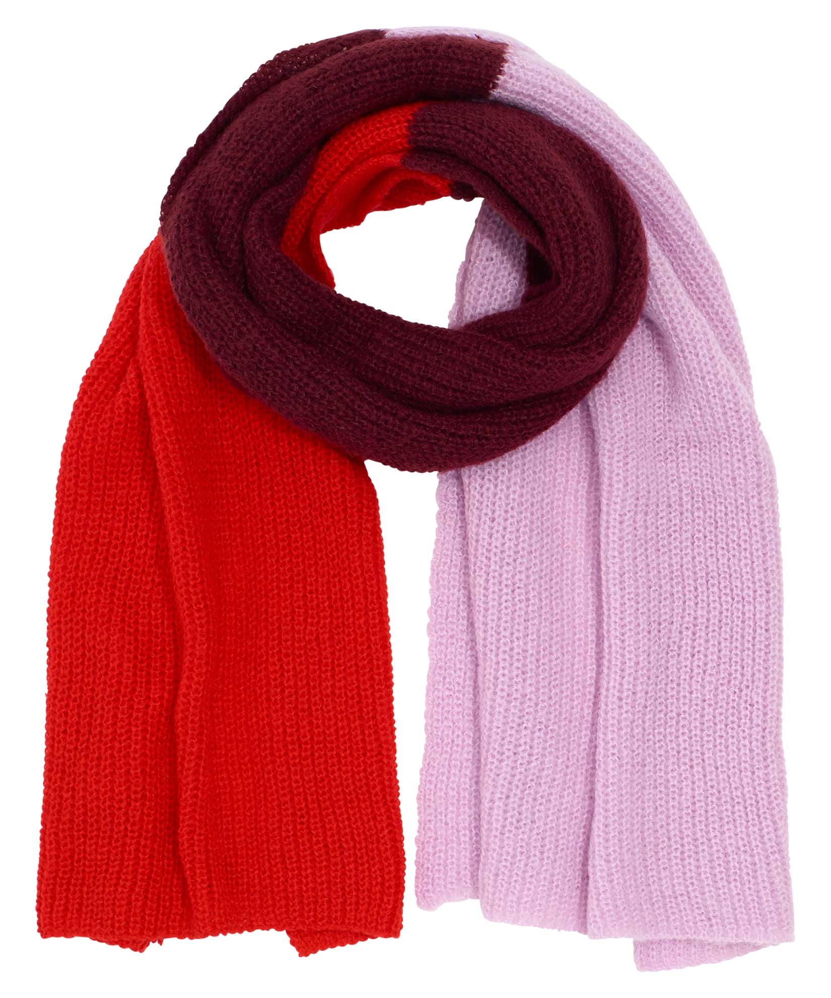 Garnet - Brushed Triple Block Scarf