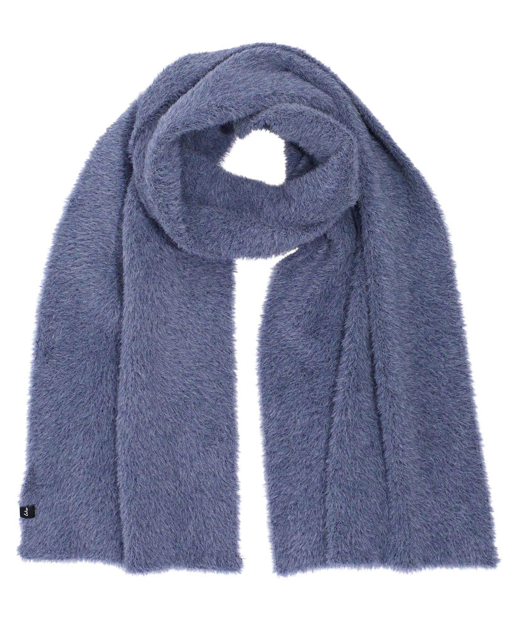 Navy - Brushed Furry Scarf