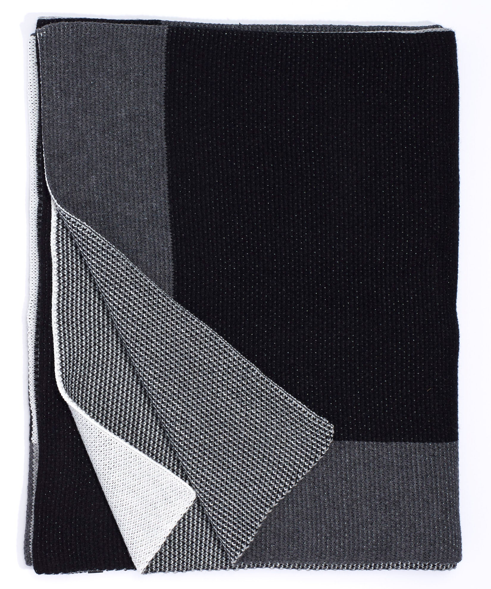 Black - Color Blocked Throw