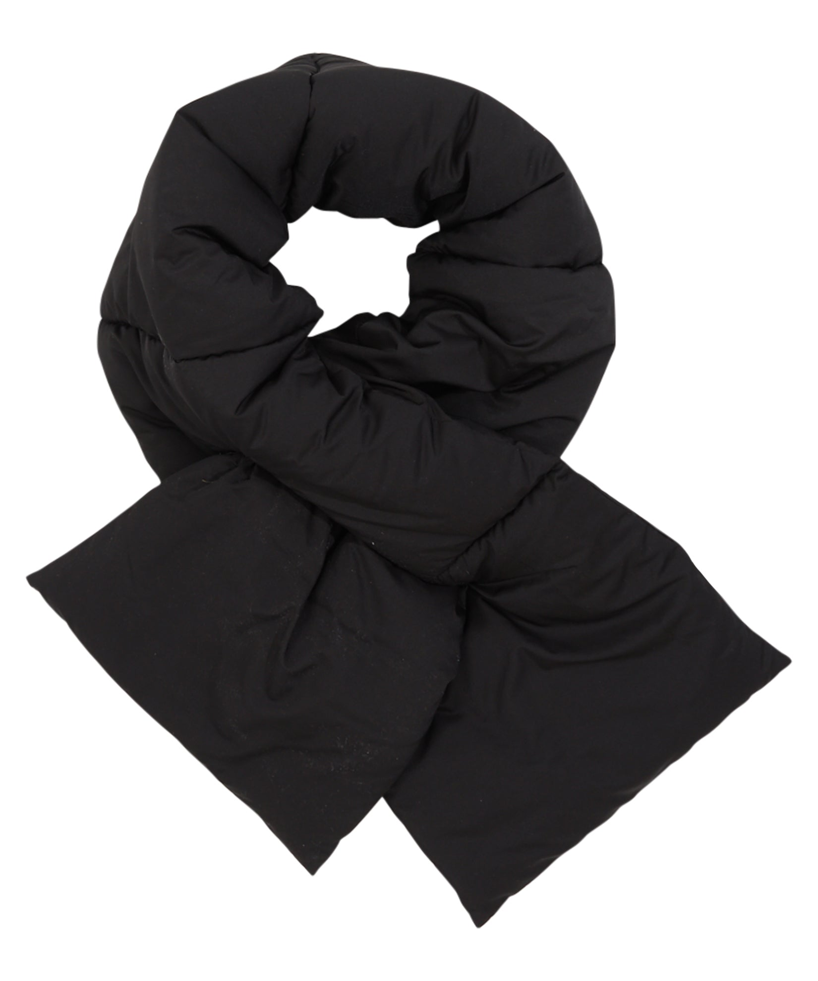 Black - Solid Puffer Scarf