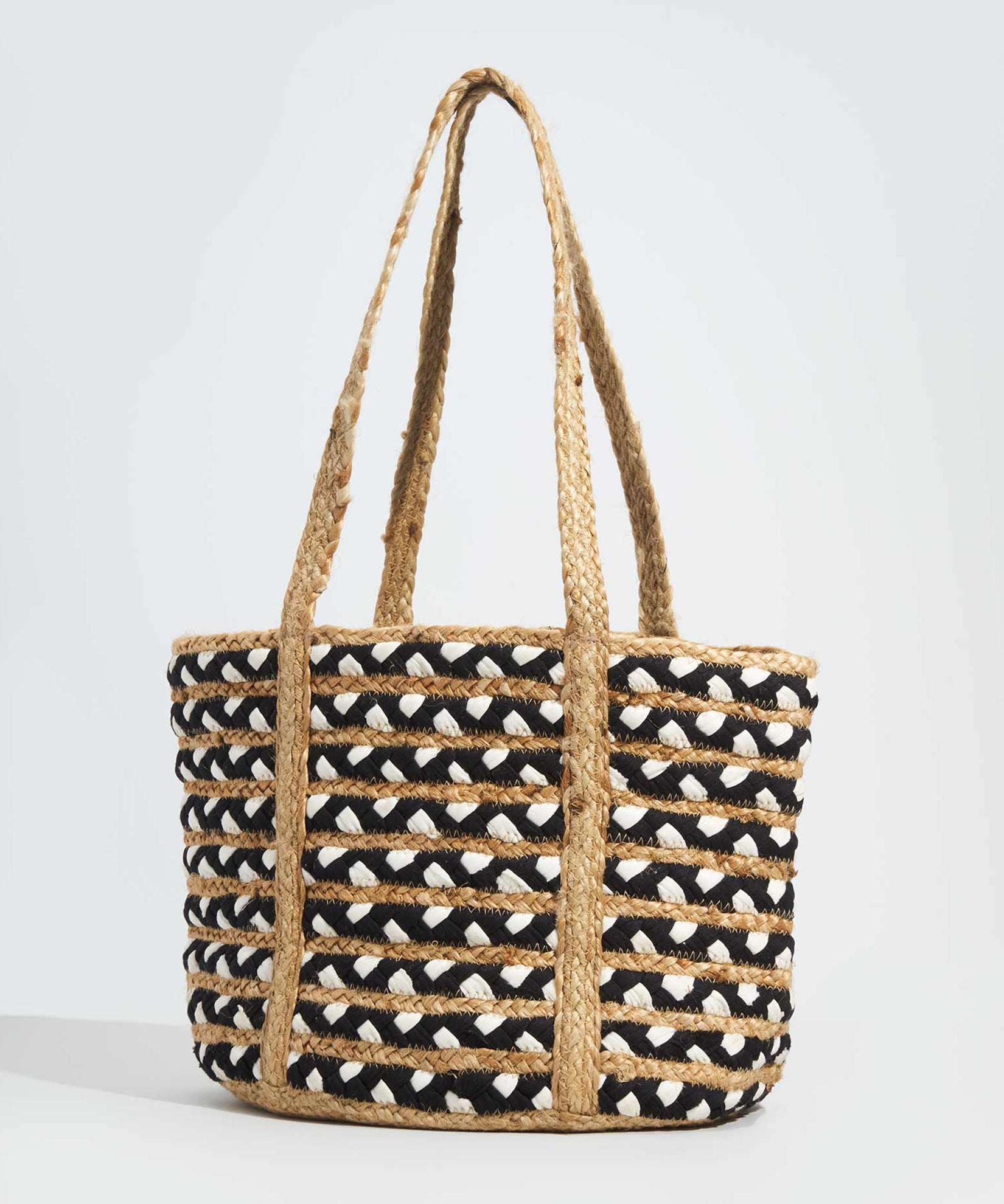 White - Braided Tote