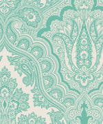 Turquoise - Modern Paisley Fabric