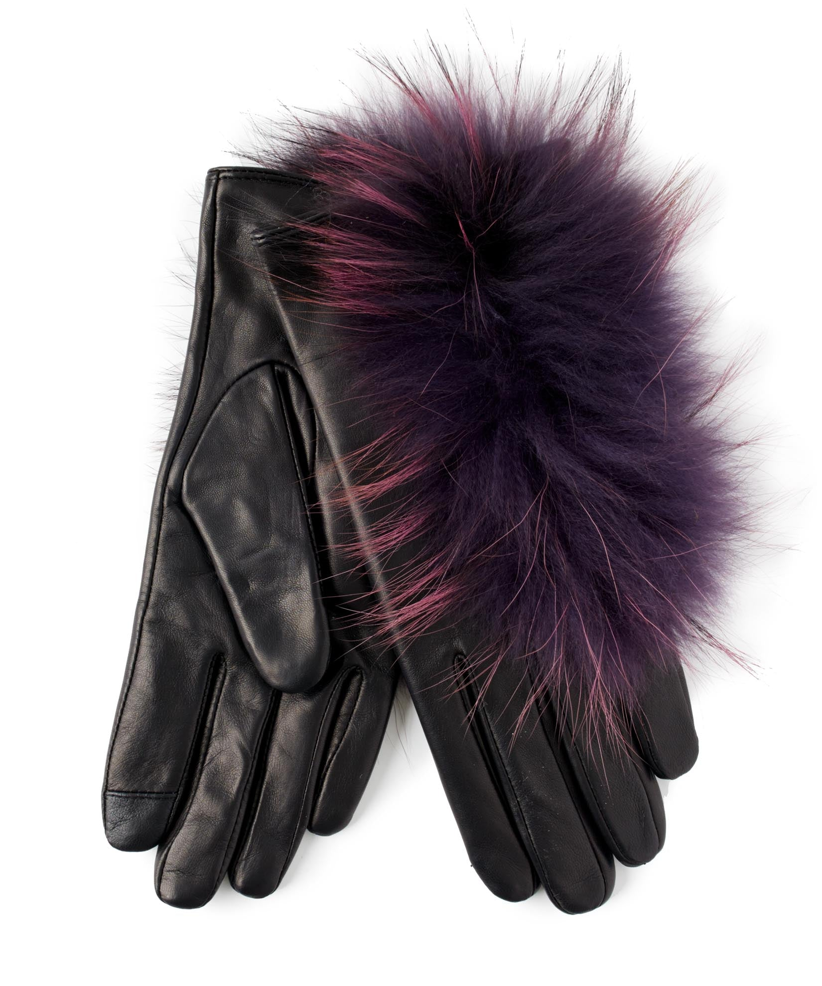 Black - Raccoon Fur Glove