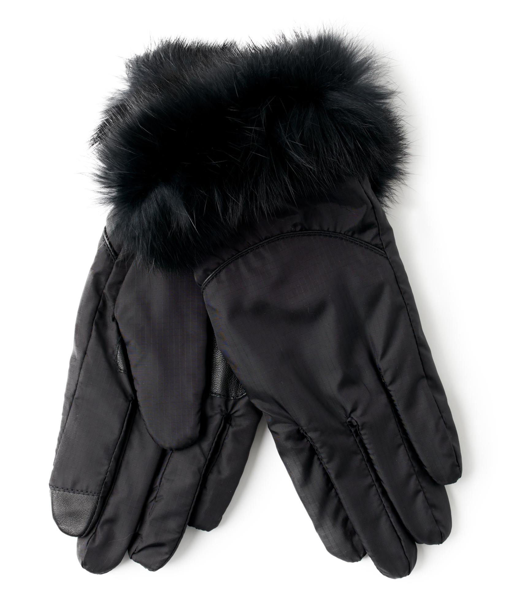 Black - Mountain Glove Rabbit Fur Cuff
