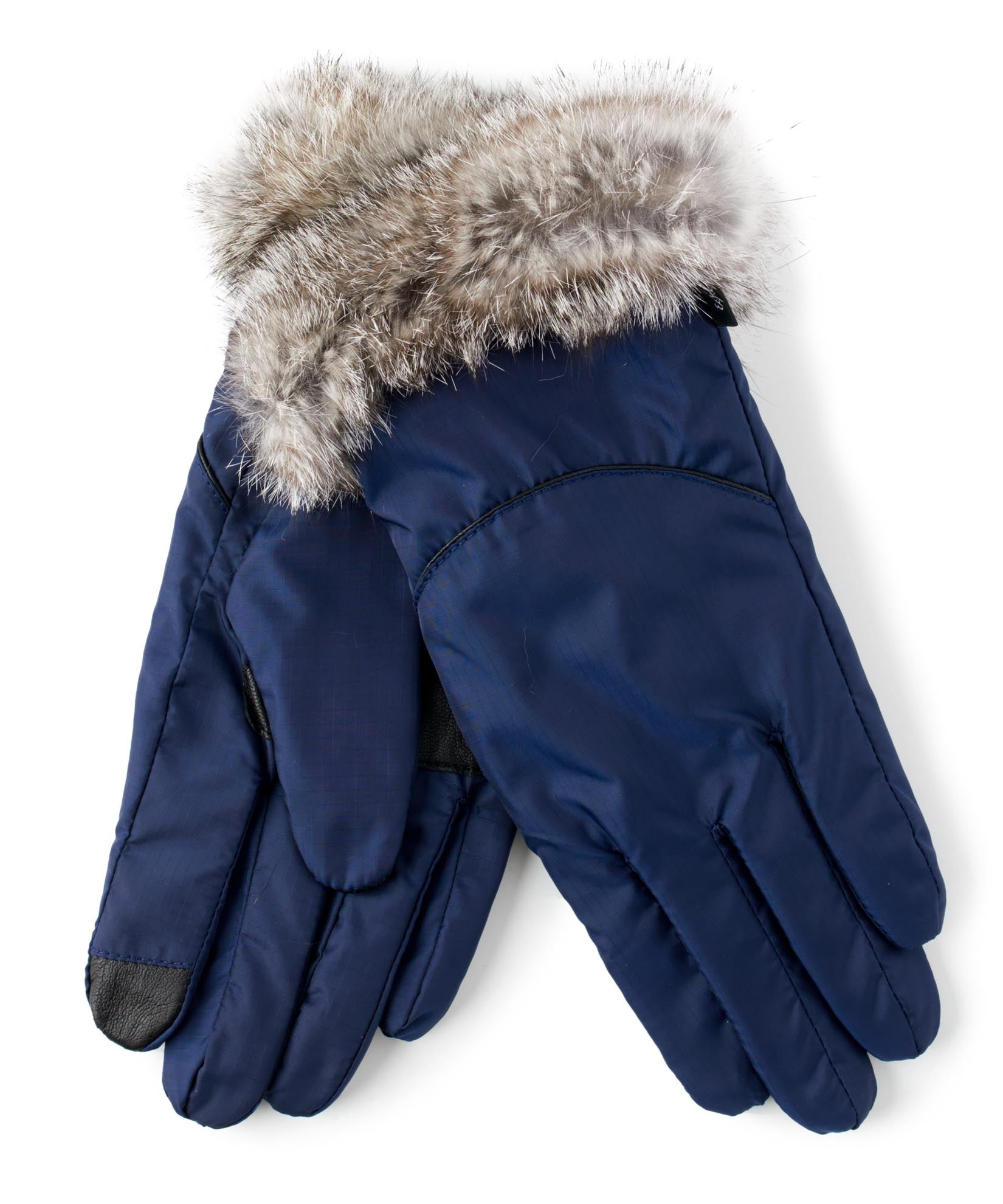 Maritime Navy - Mountain Glove Rabbit Fur Cuff