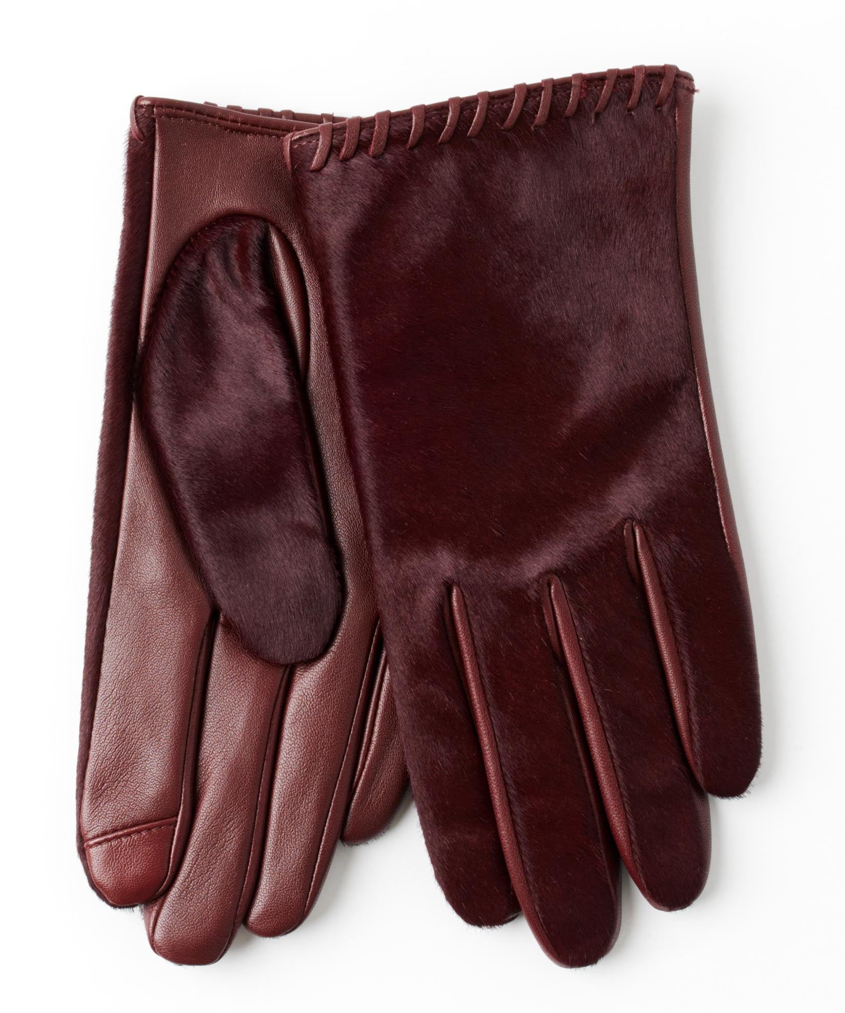 Port - Whipstitch Calf Hair Glove