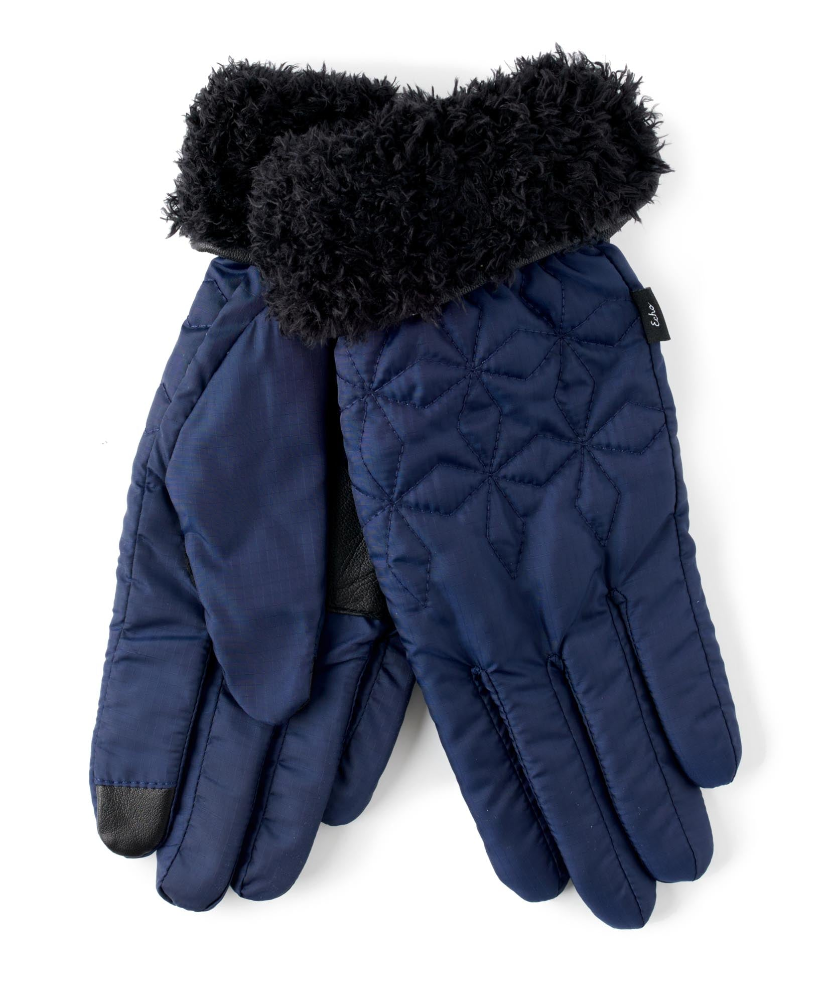 Maritime Navy - Quilted Geo Glove