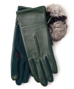 Ivy - Colorblock Fur Pom Glove