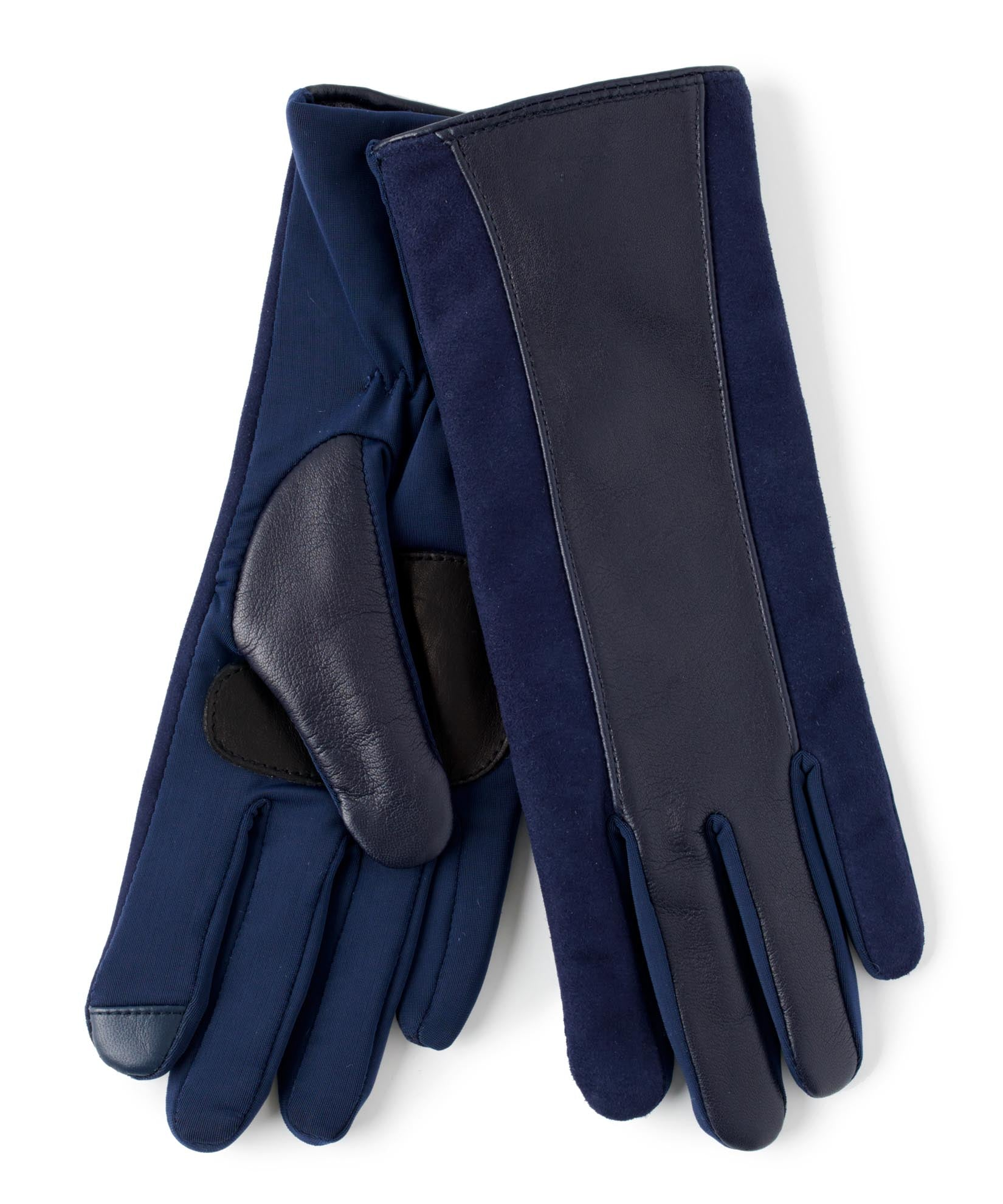 Maritime Navy - Leather Stripe Superfit Glove