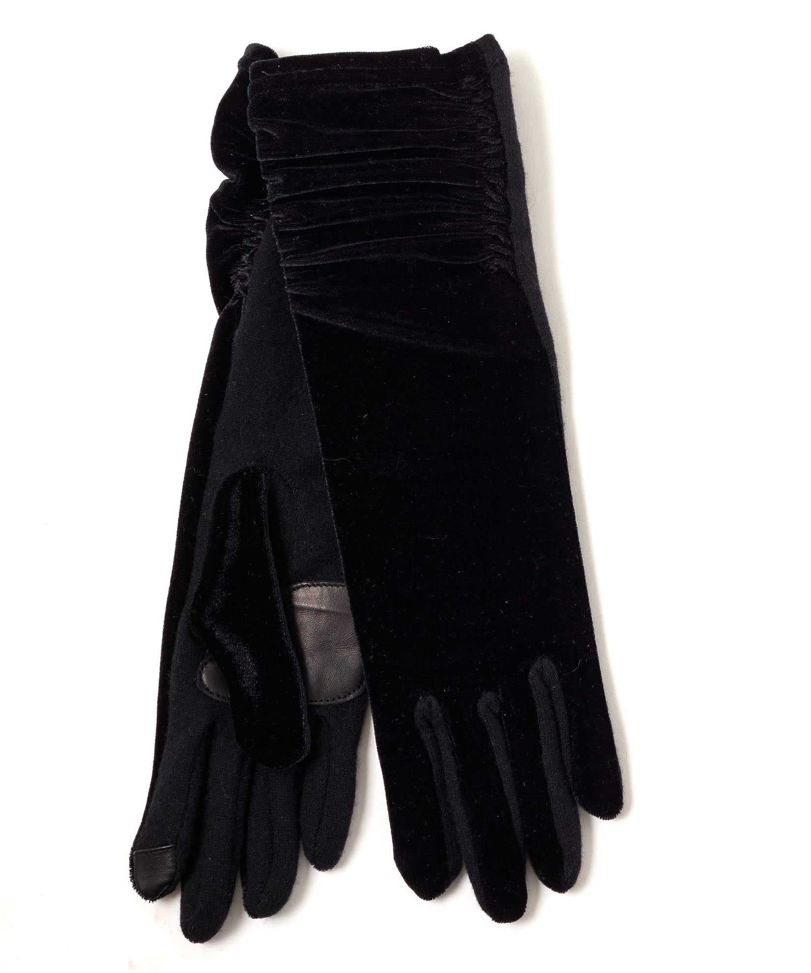 Black - Long Classic Velvet Glove