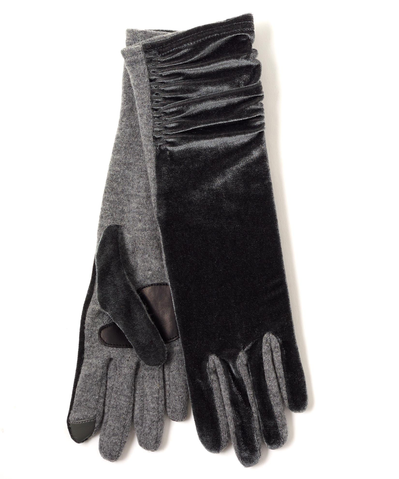 Heather Grey - Long Classic Velvet Glove