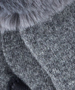 Heather Grey - Faux Fur Cuff Glove