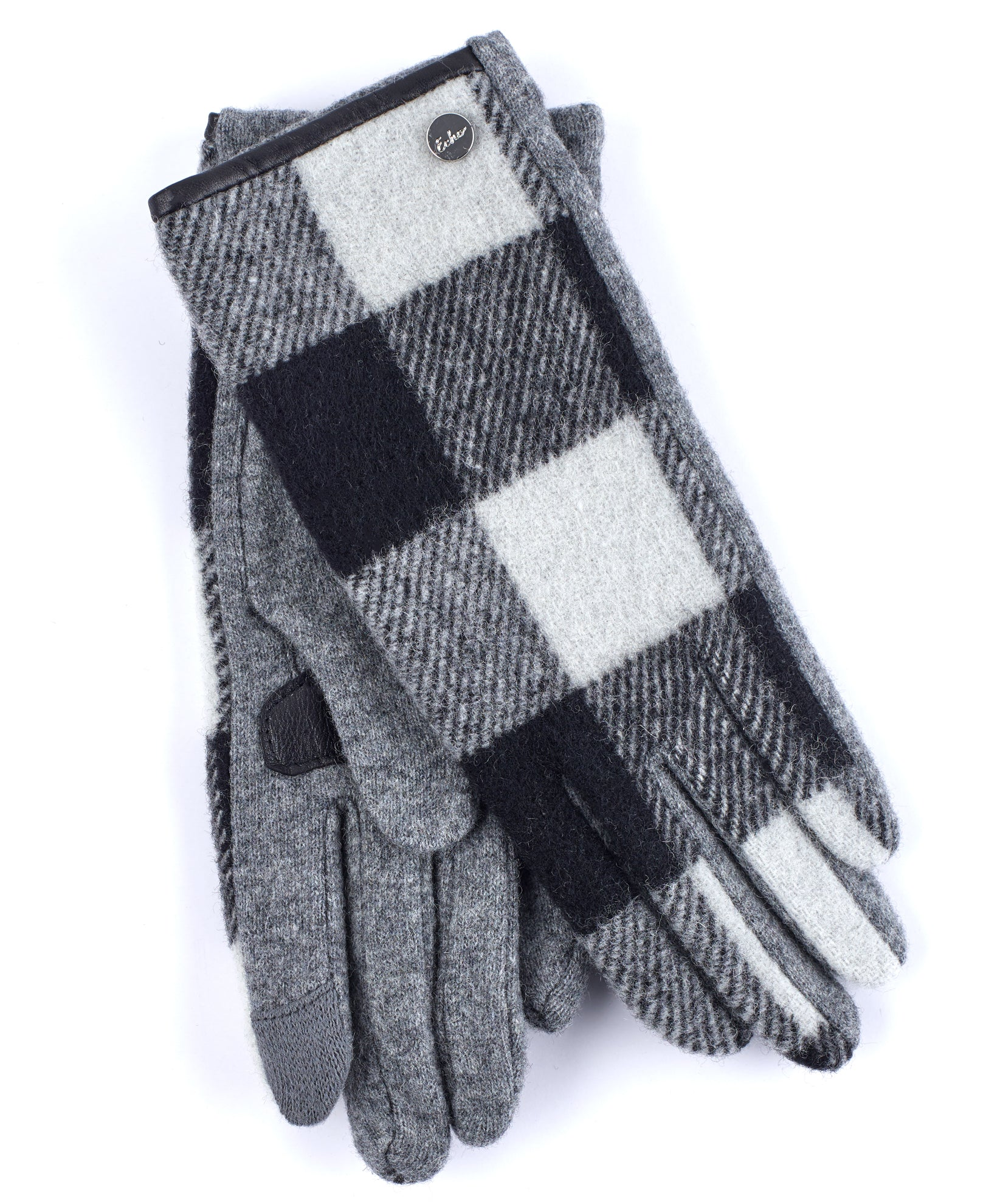 Heather Grey - Buffalo Plaid Glove