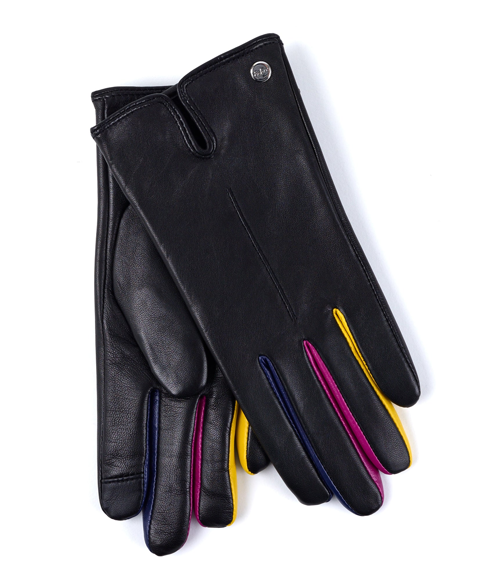 Echo Black - Leather Colorblock Fourchette Glove