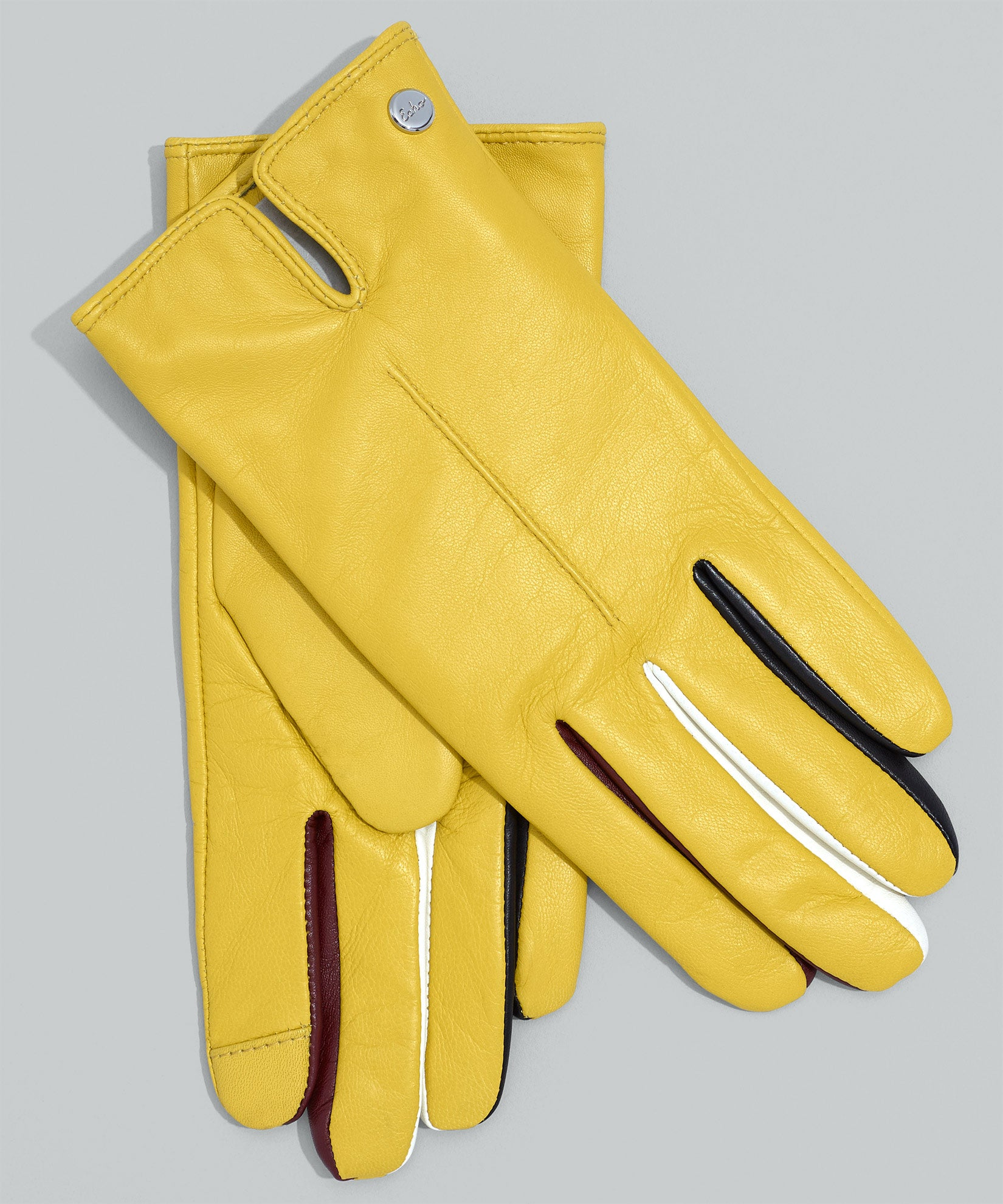 Citron - Leather Colorblock Fourchette Glove