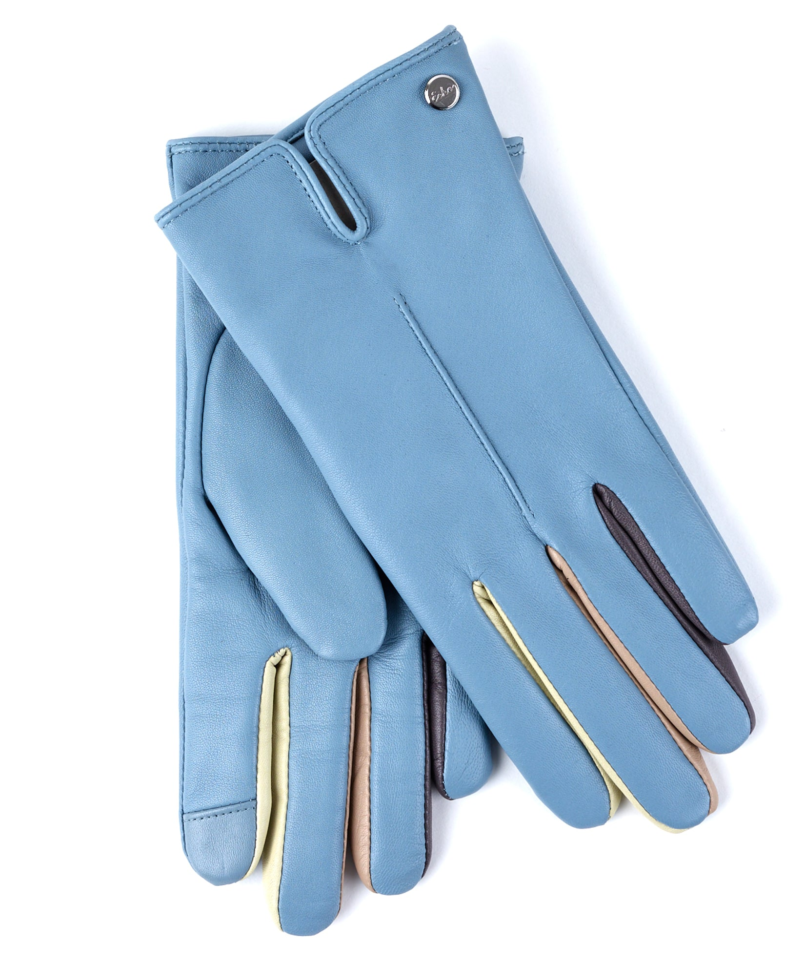 Himalayan Ice - Leather Colorblock Fourchette Glove