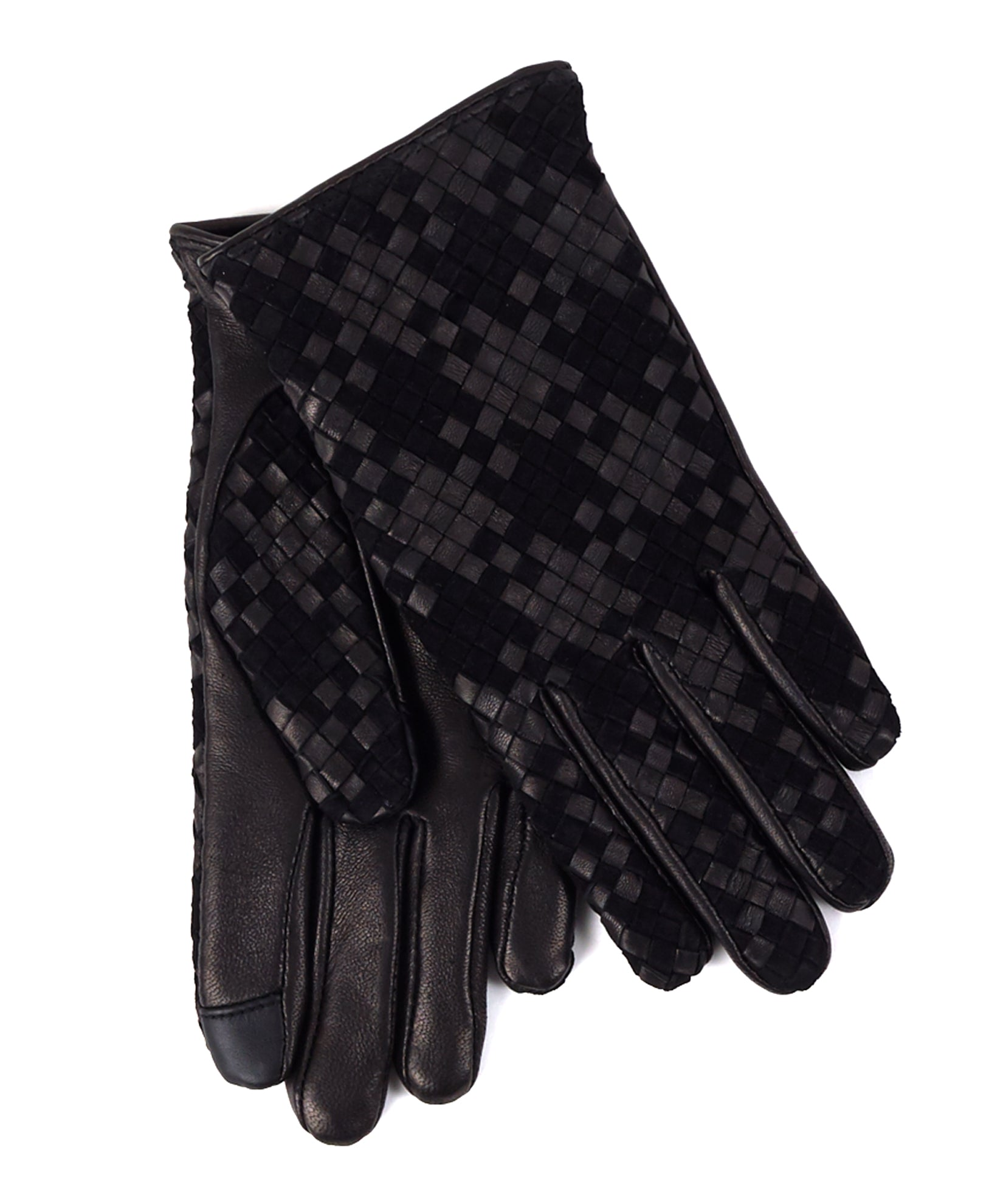 Echo Black - Woven Leather Glove