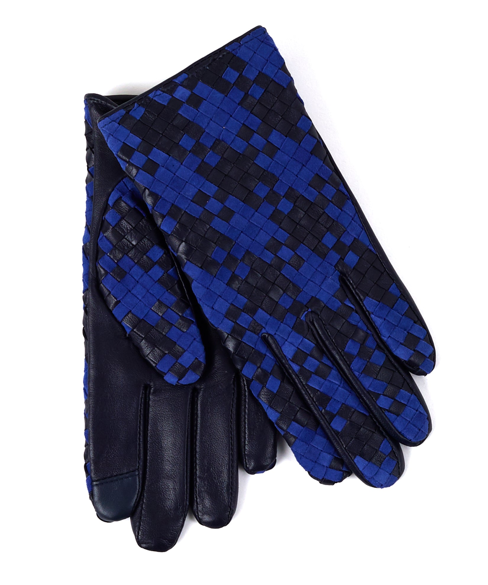 Echo Navy - Woven Leather Glove