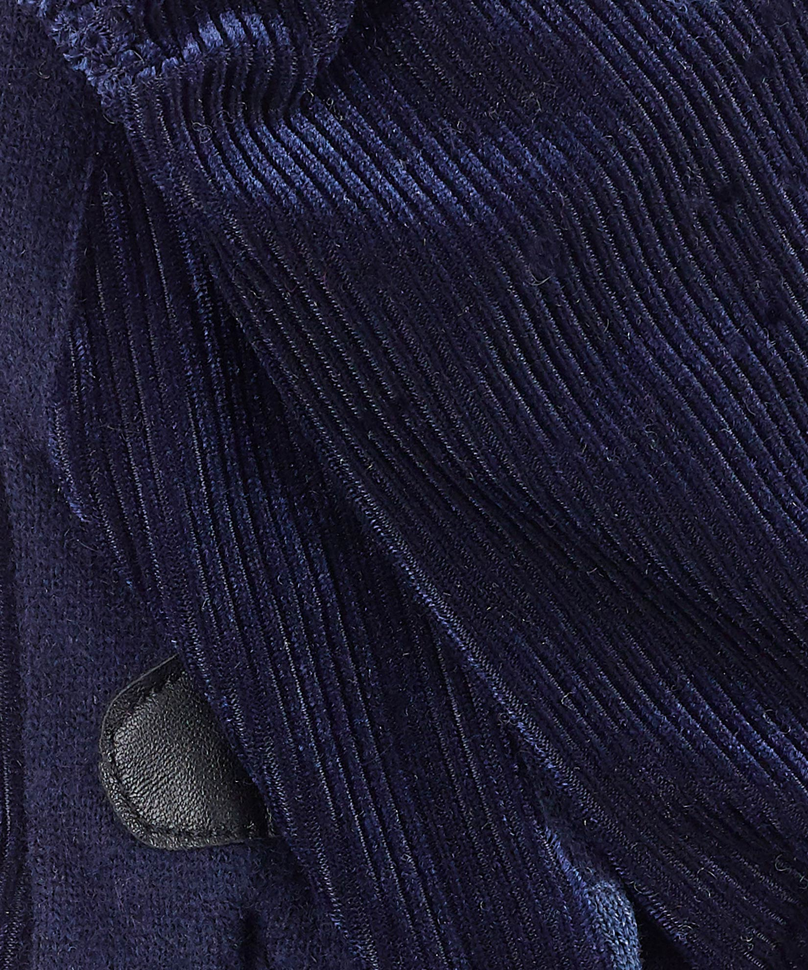 Echo Navy - Ribbed Velvet Glove