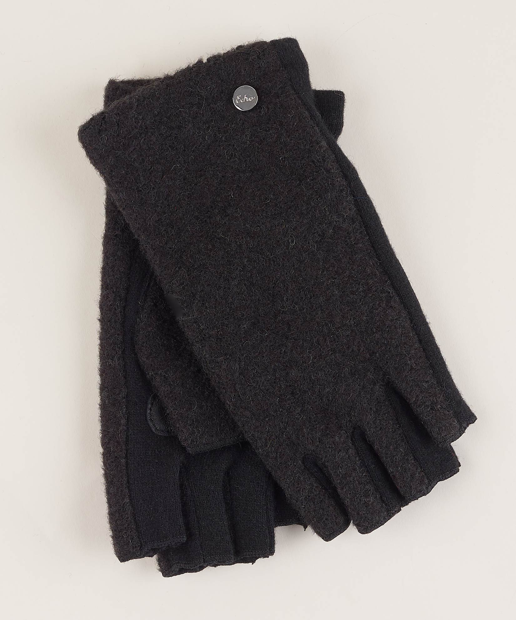 Black - Boucle Fingerless Glove