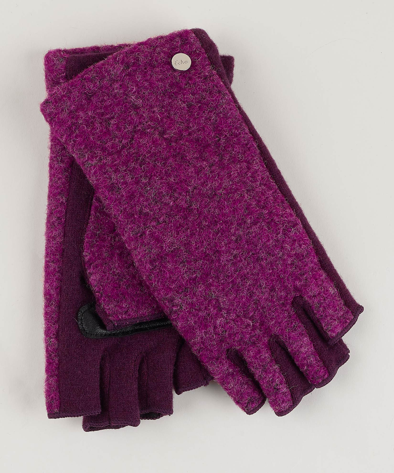 Pickled Beet - Boucle Fingerless Glove
