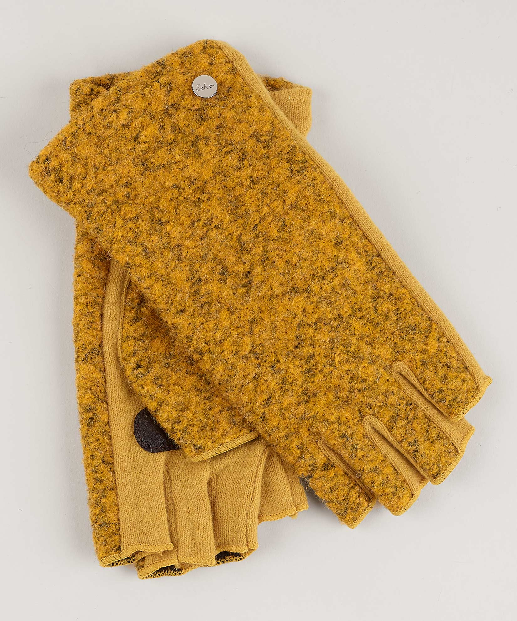 Gold - Boucle Fingerless Glove