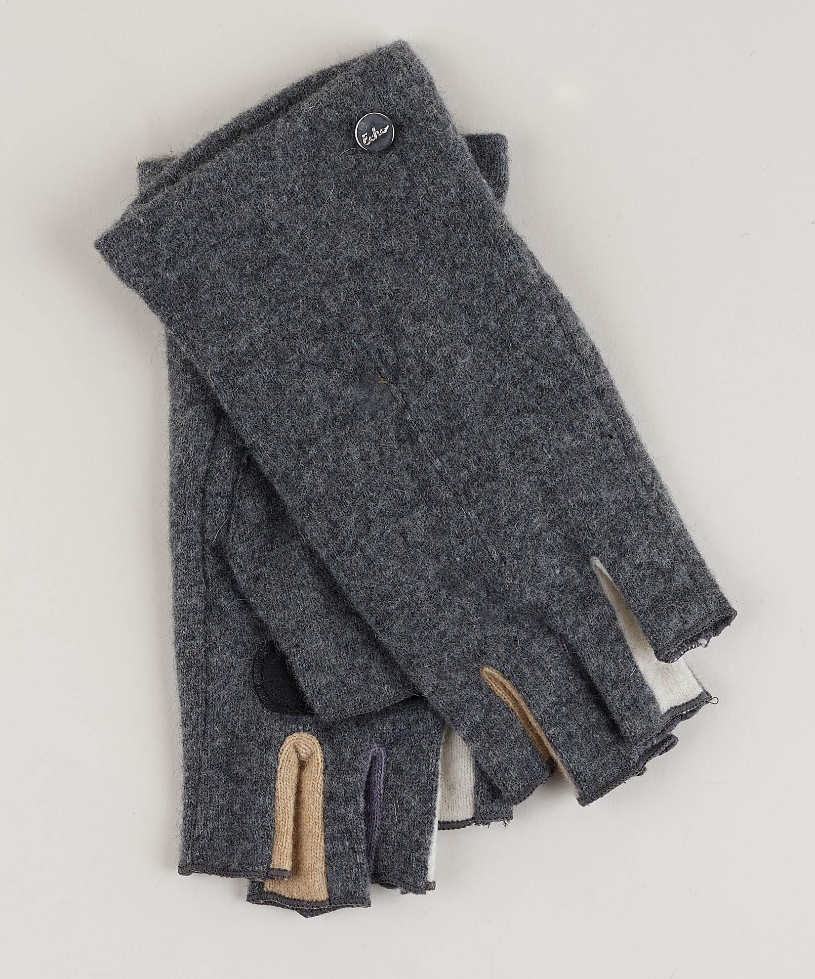 Heather Grey - Colorblock Fourchette Fingerless Glove