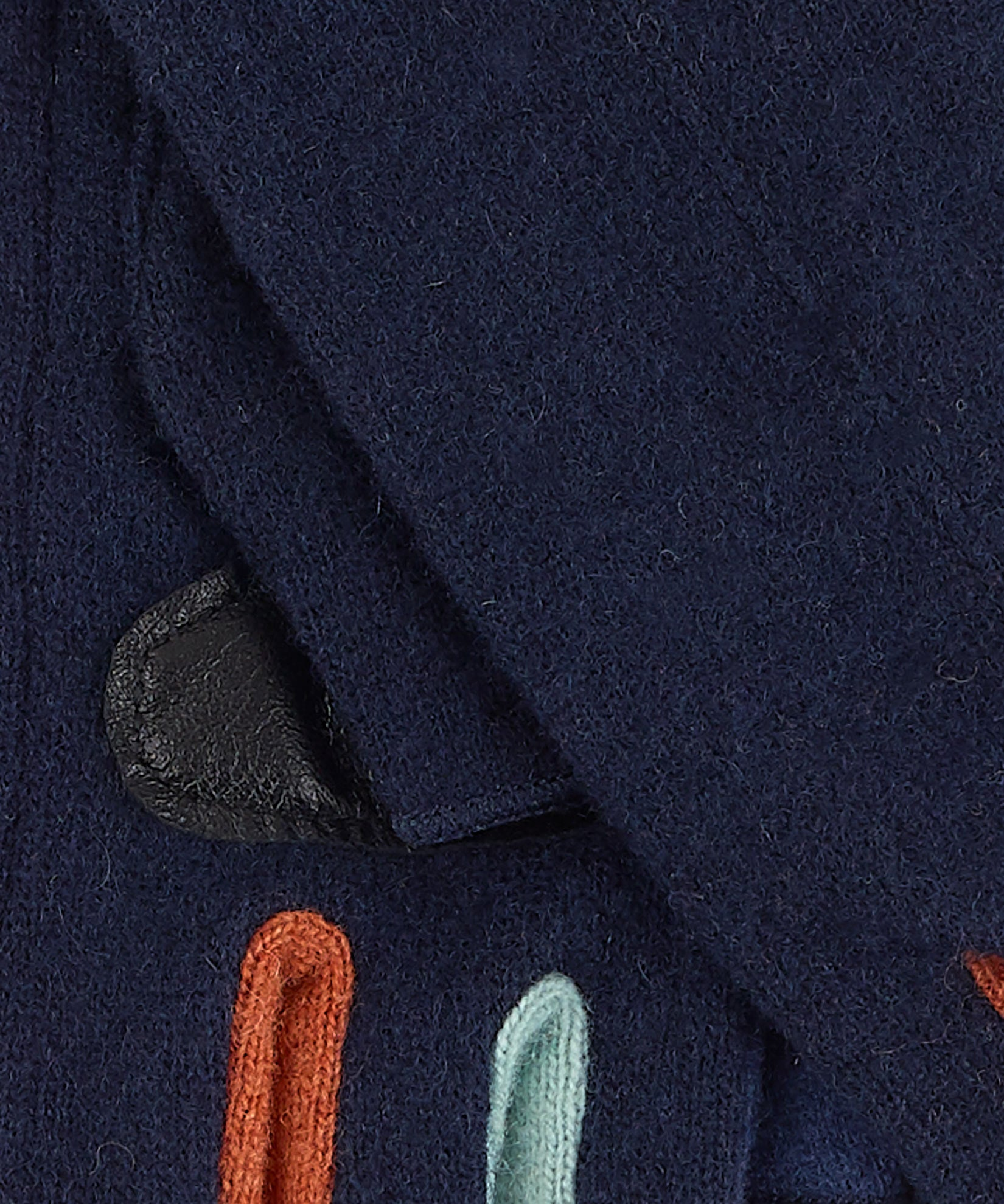 Navy - Colorblock Fourchette Fingerless Glove