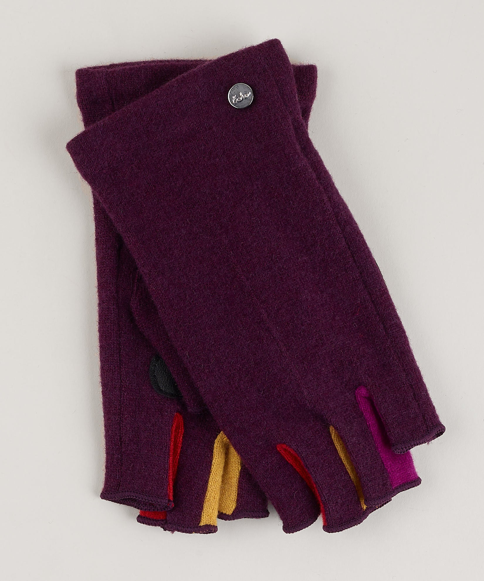 Pickled Beet - Colorblock Fourchette Fingerless Glove