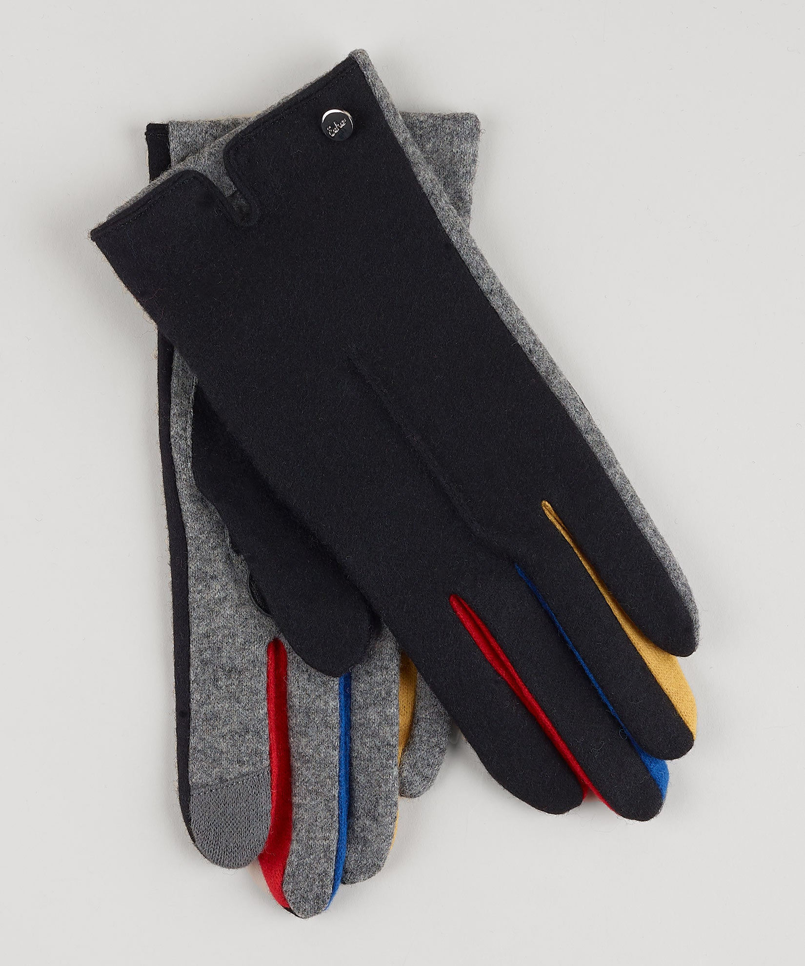 Black - Colorblock Fourchette Glove