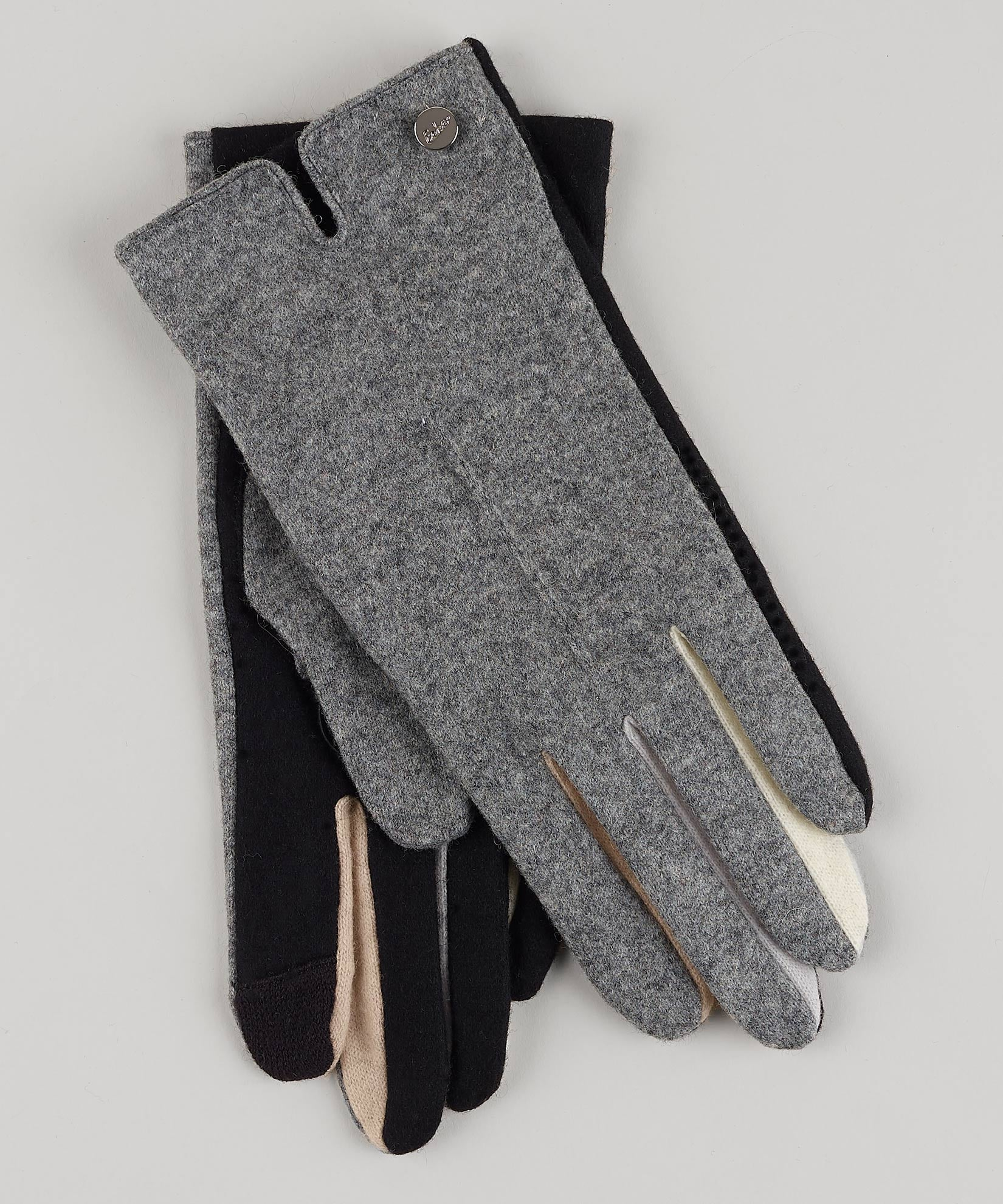 Heather Grey - Colorblock Fourchette Glove