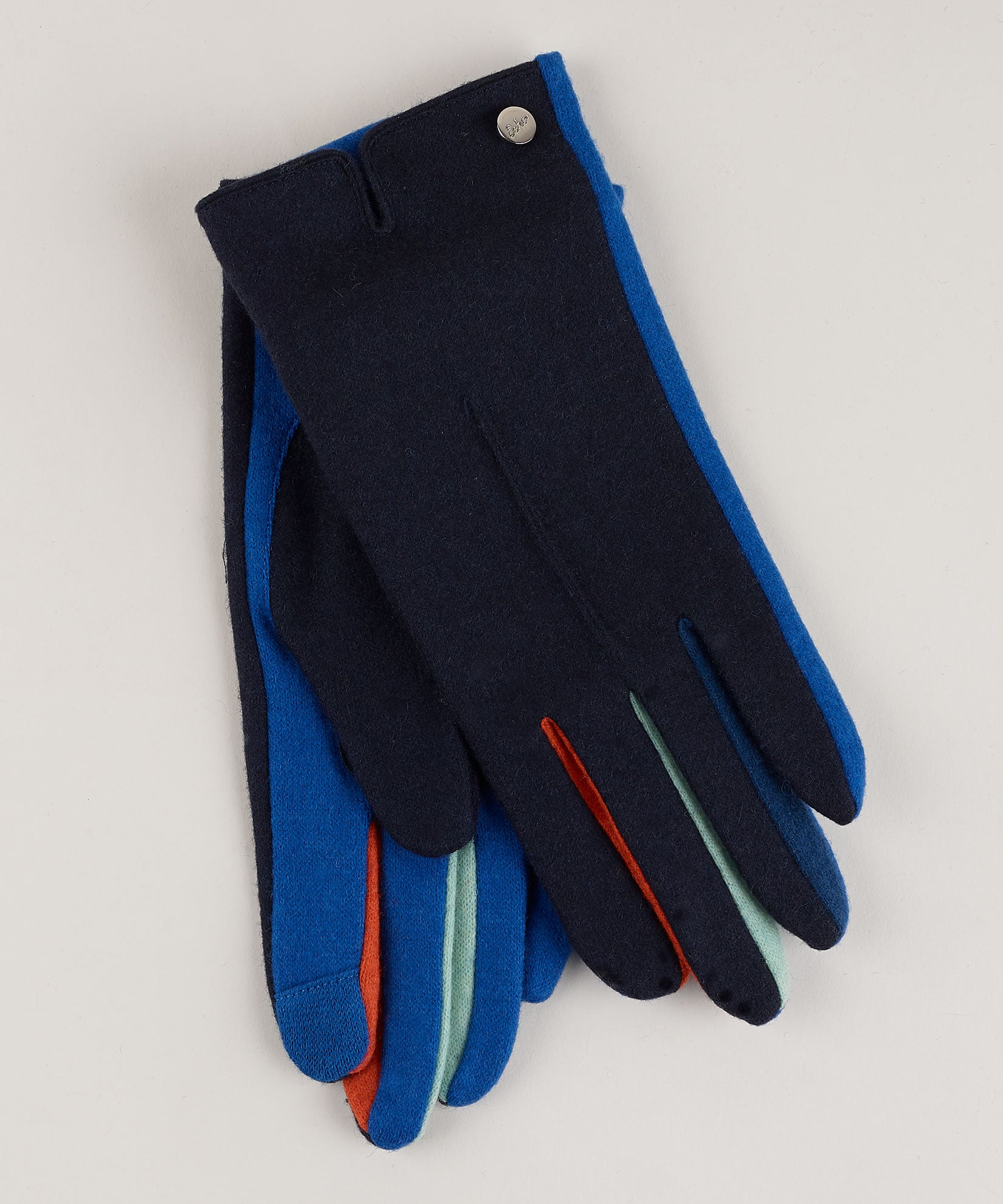 Navy - Colorblock Fourchette Glove