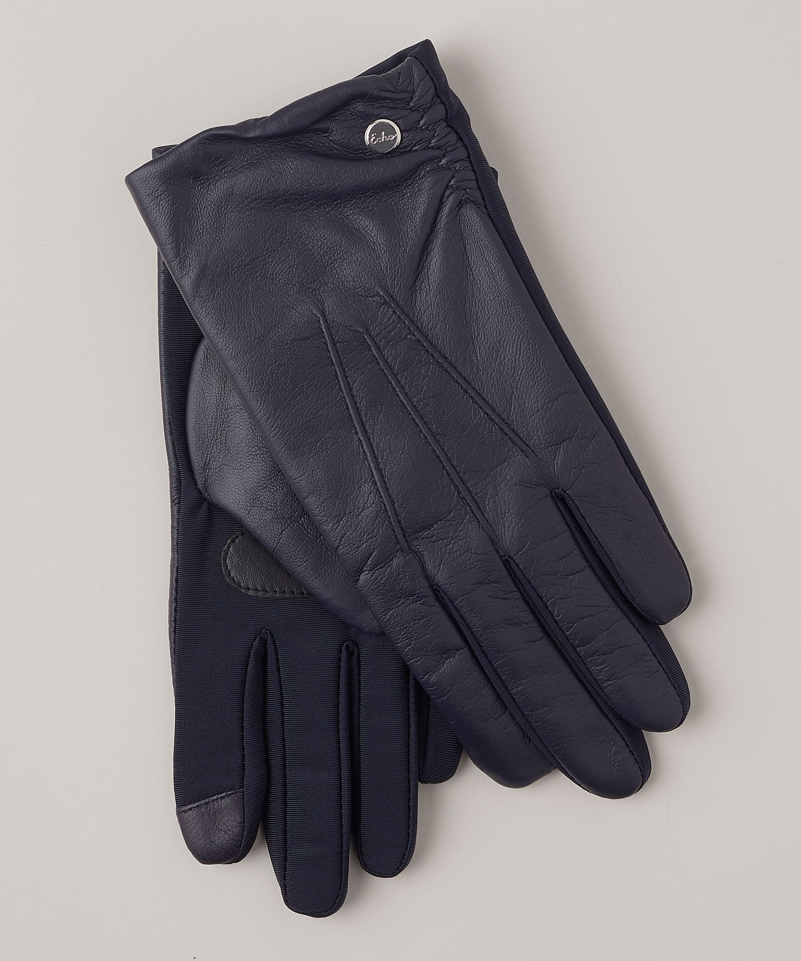 Navy - Classic Leather Superfit Glove