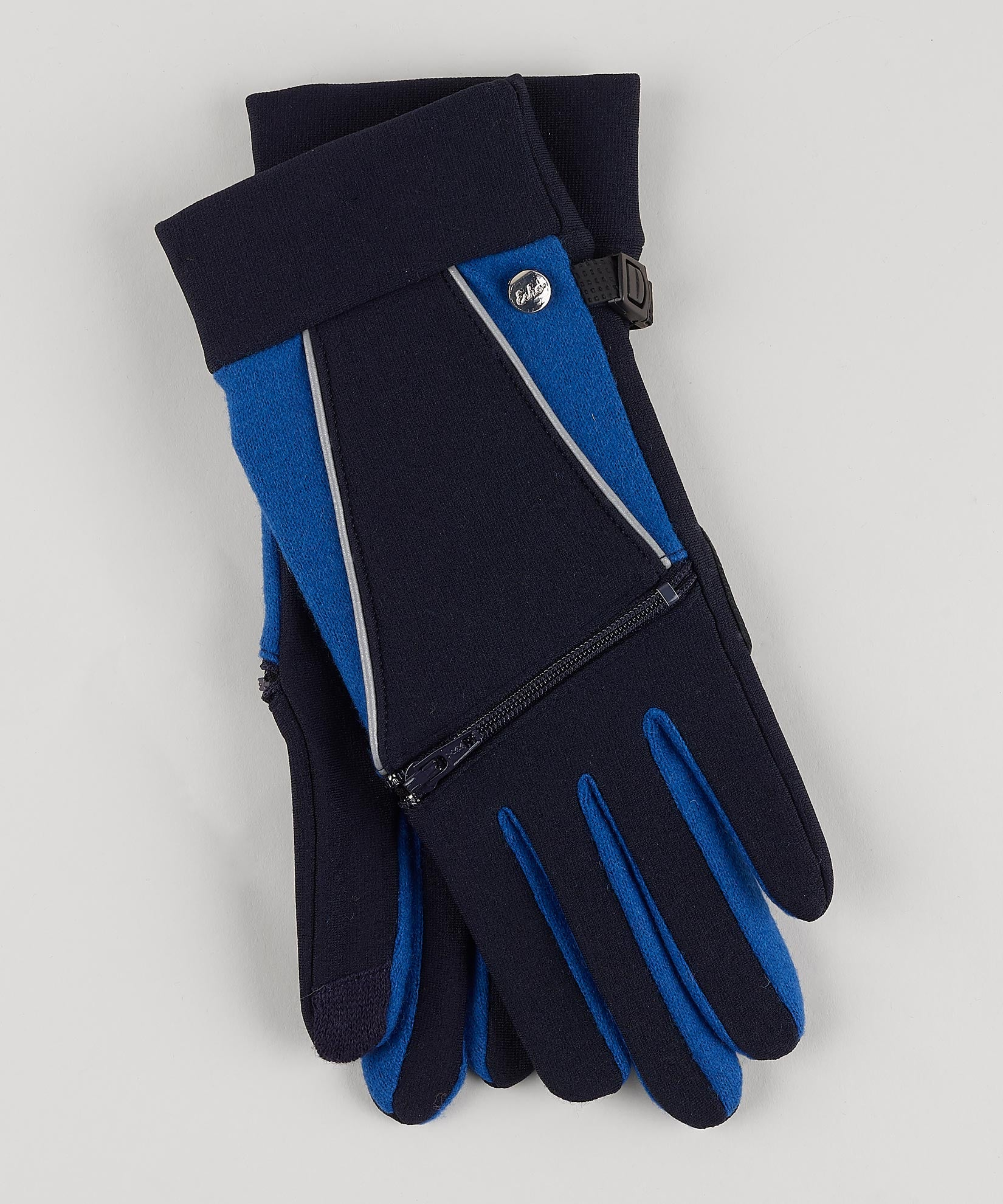 Navy - Argan Oil Zip Glove