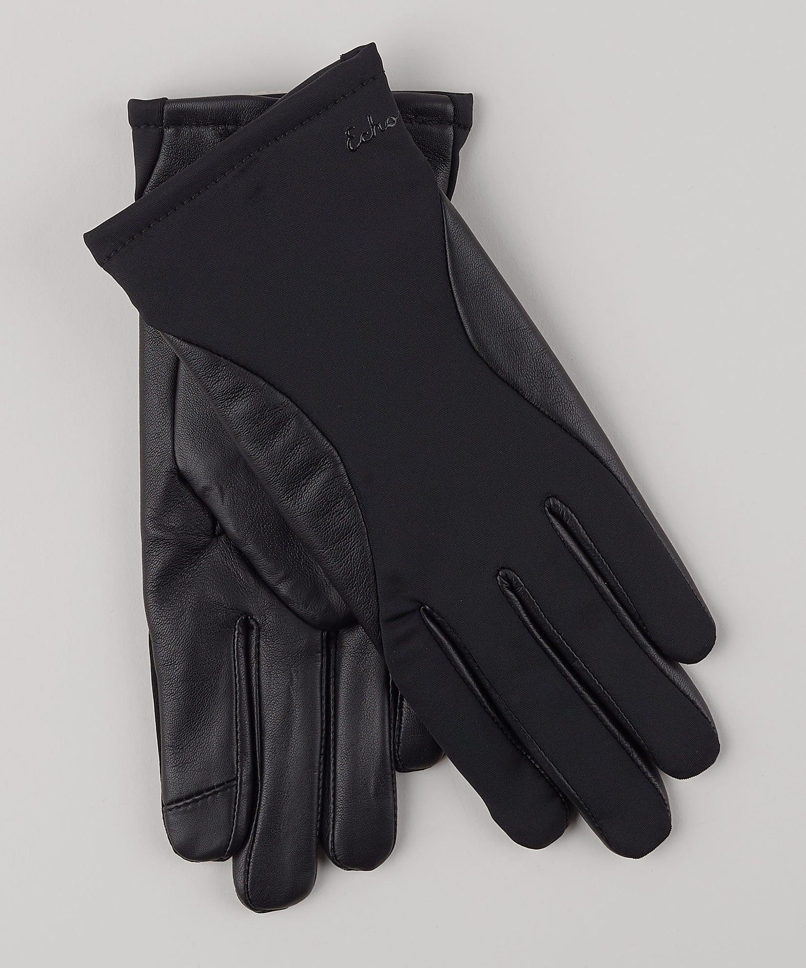 Black - Contour Leather Superfit Glove