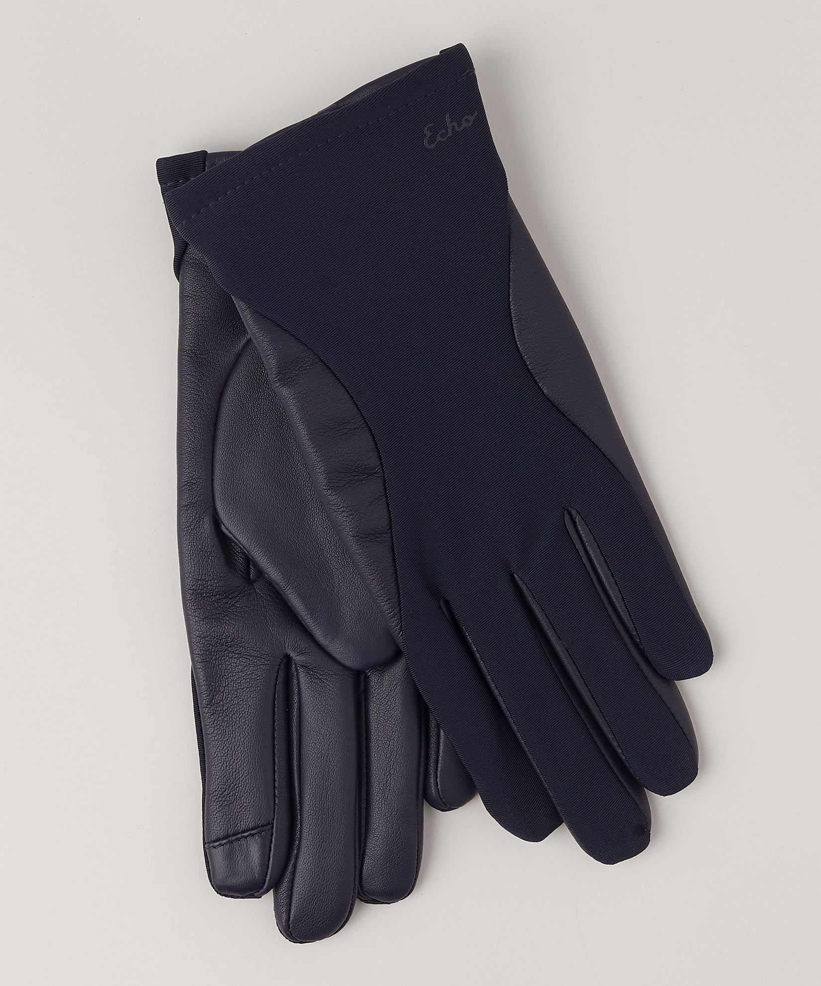 Navy - Contour Leather Superfit Glove