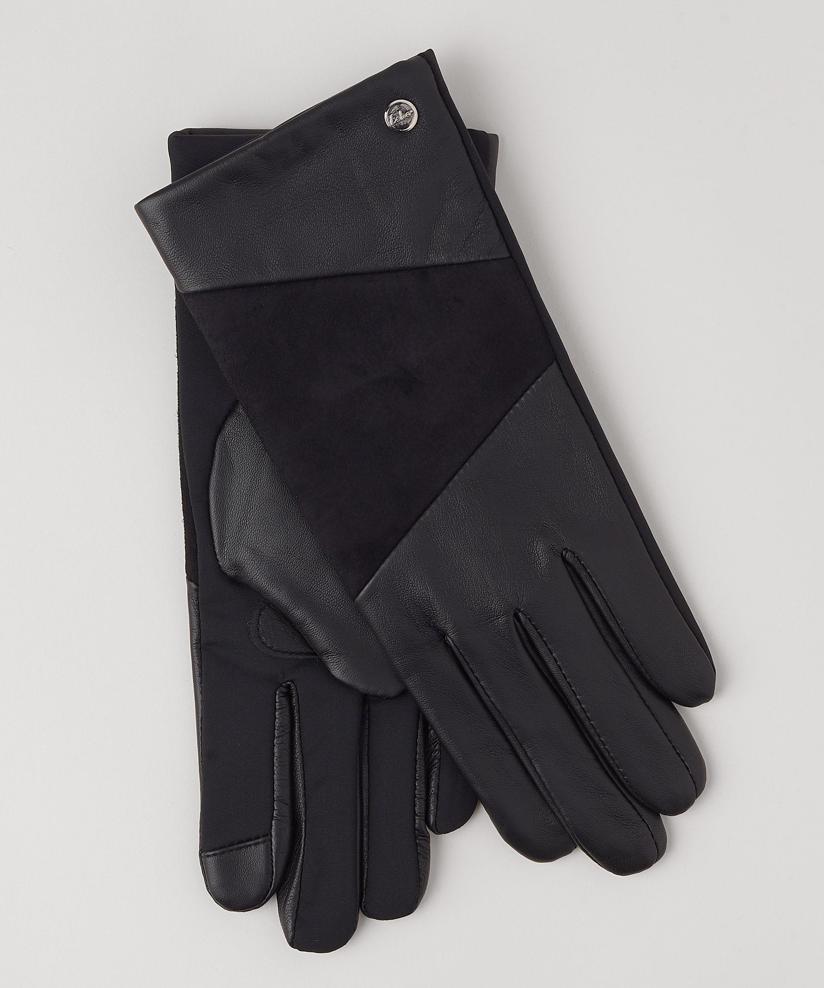 Black - Leather Block Superfit Glove