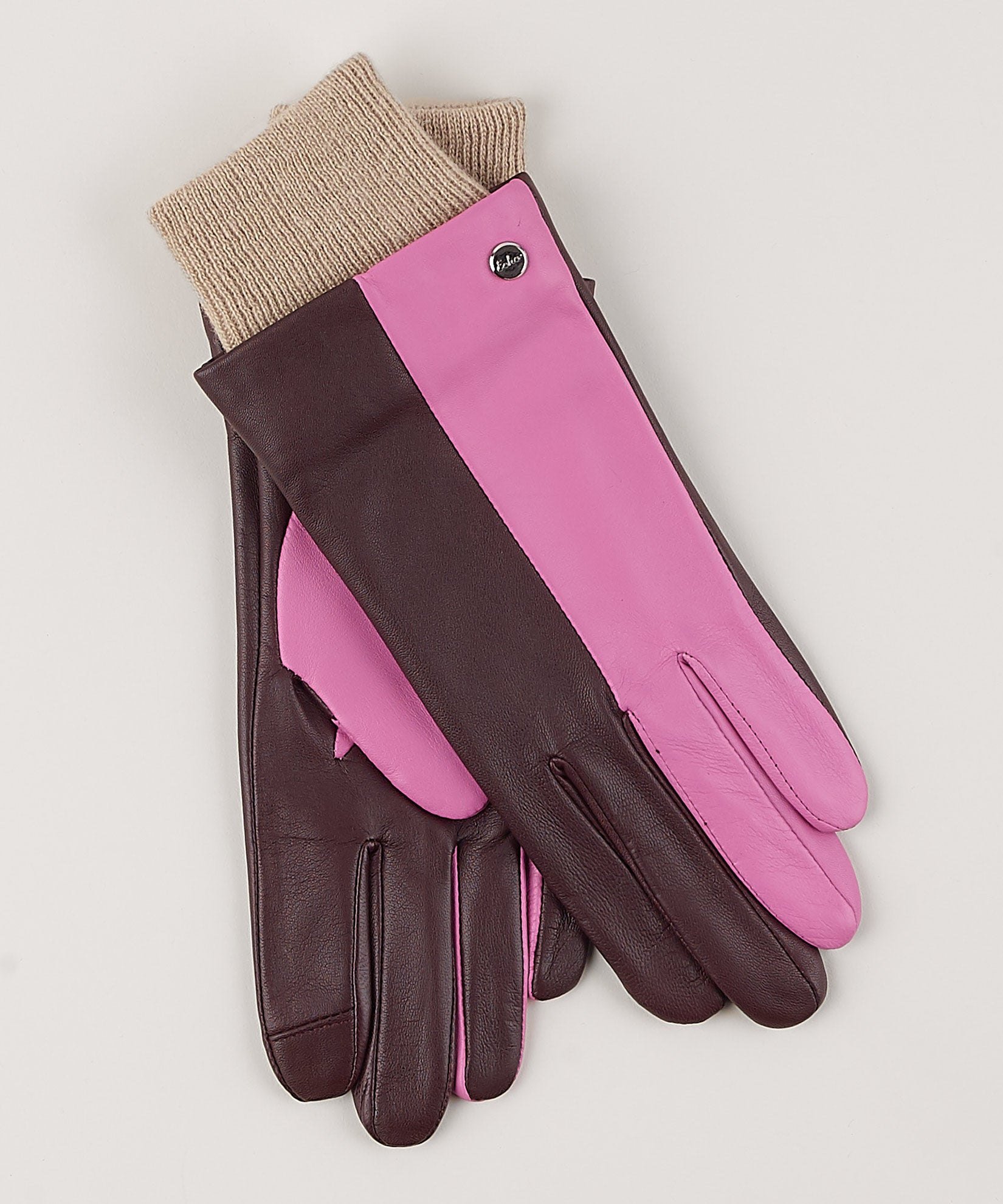 Fig - Leather Colorblock Glove