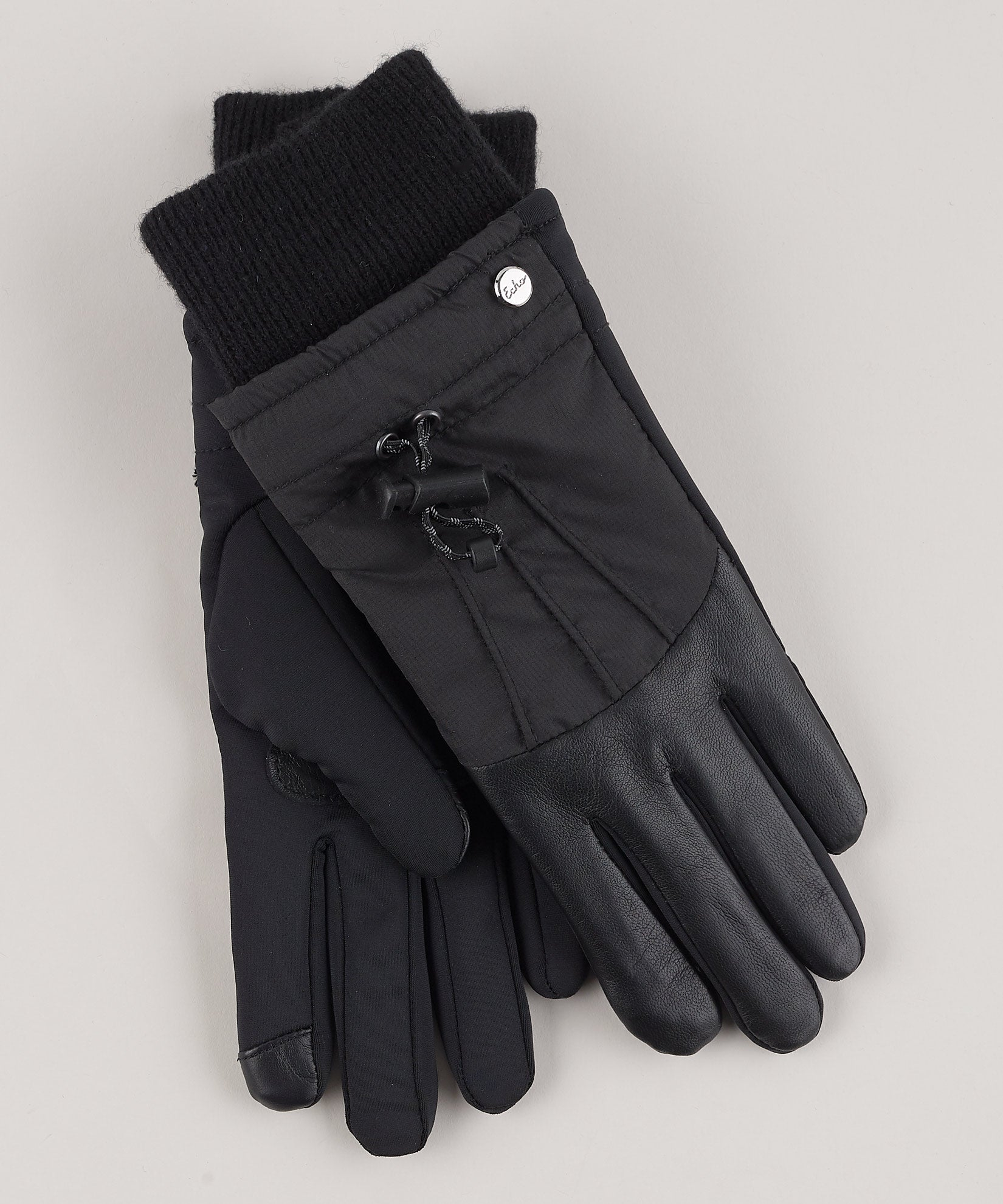 Black - Warmest Superfit Drawstring Glove