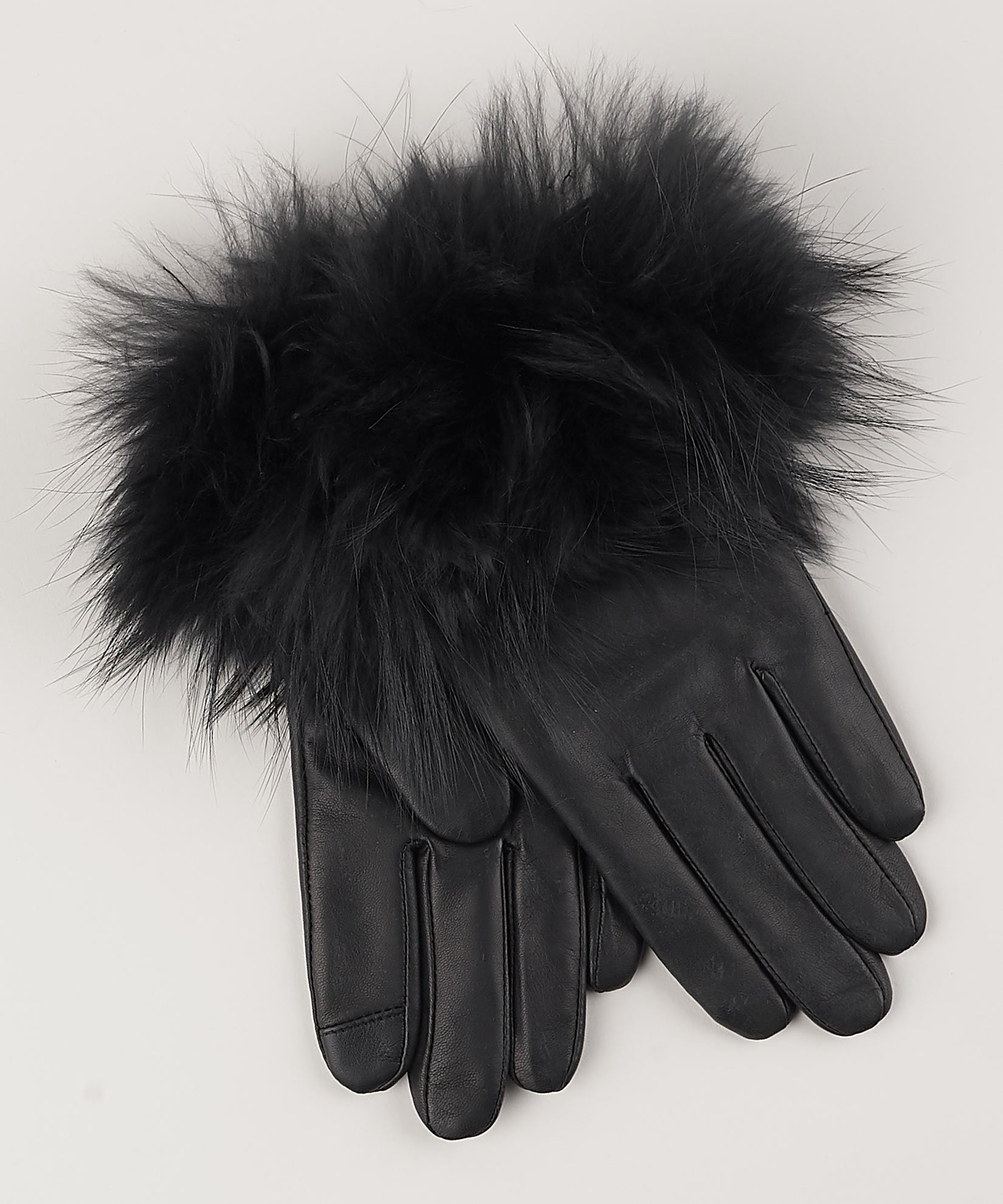 Black - Fur Cuff Glove