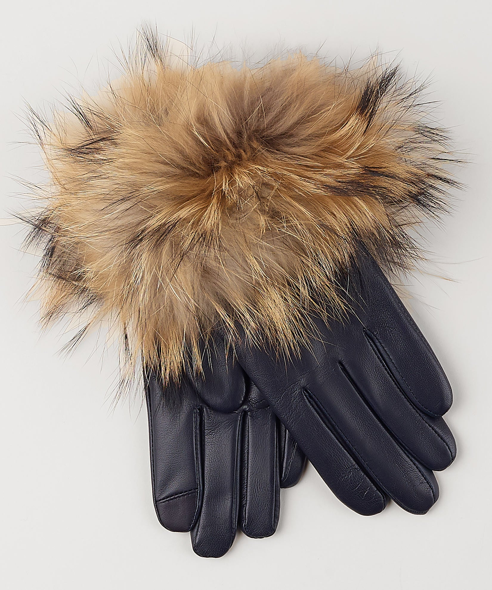 Navy - Fur Cuff Glove