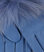 Denim Blue - Fur Cuff Glove