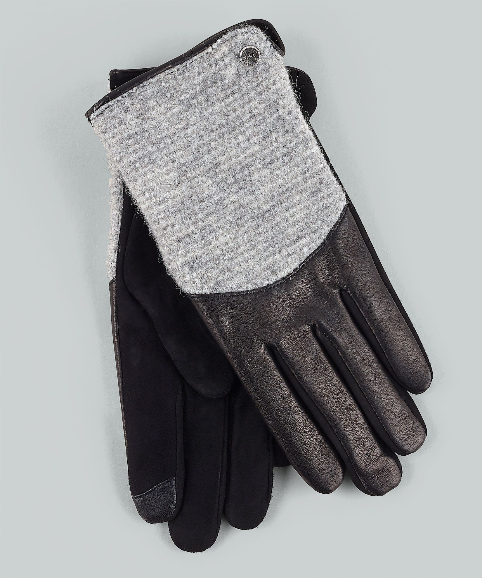 Black - Mixed Media Leather Glove