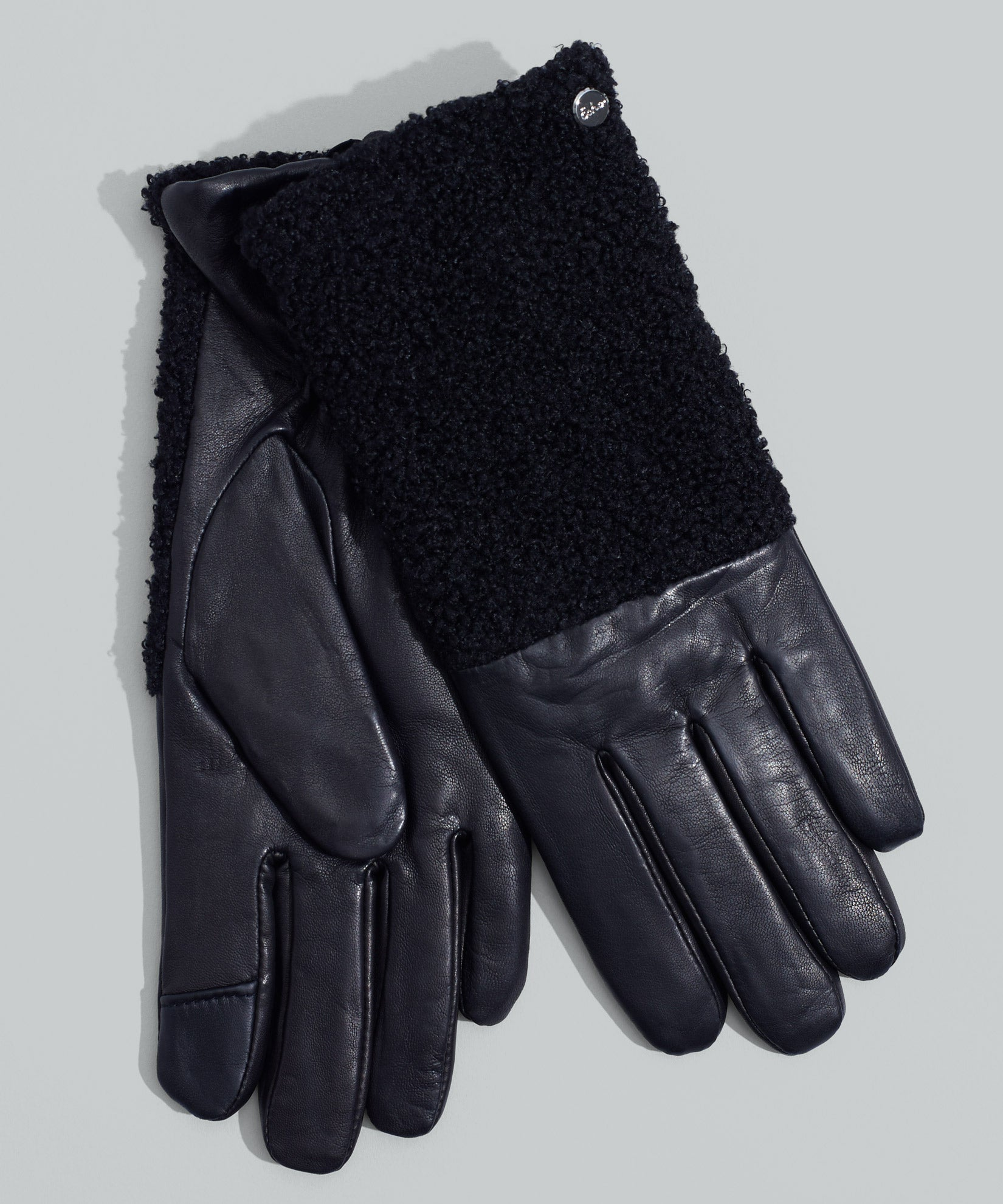 Black - Faux Shearling Glove
