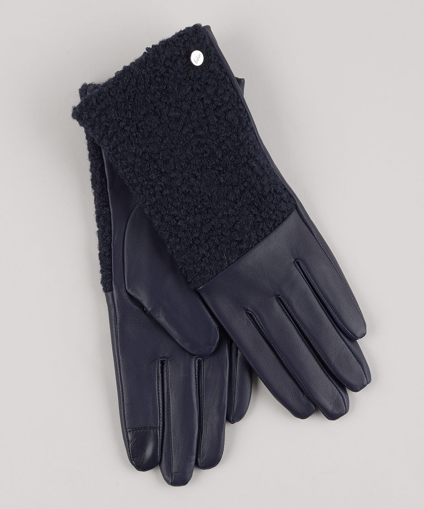 Navy - Faux Shearling Glove