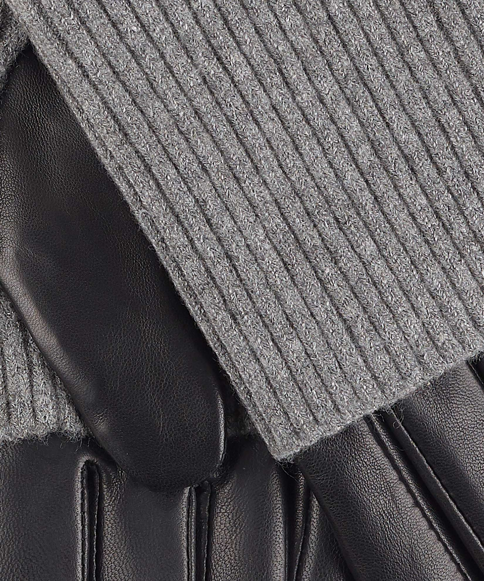 Black - Fold Down Cuff Glove