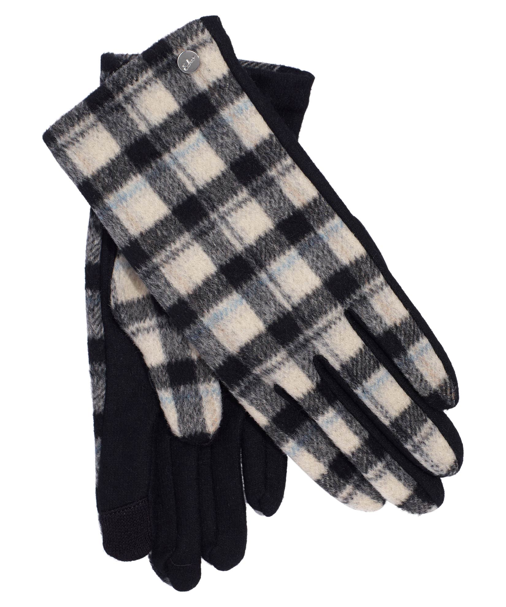 Black - Plaid Touch Glove