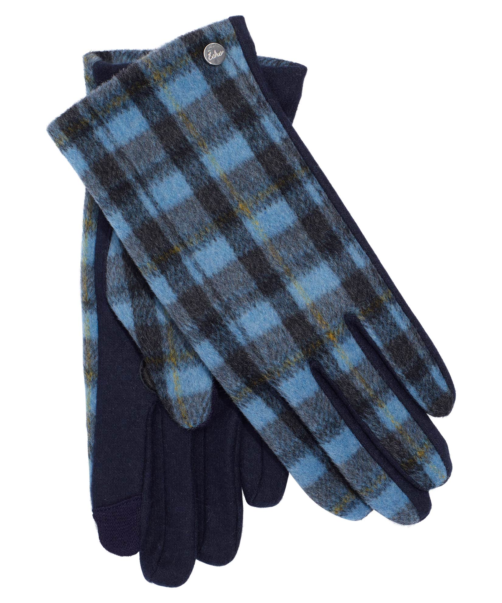 Navy - Plaid Touch Glove