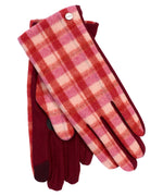 Garnet - Plaid Touch Glove
